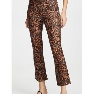 7 for all Mankind Hi Waist Slim Kick Leopard Jean
